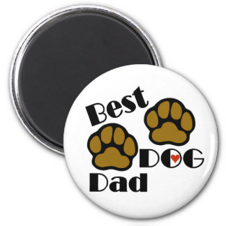 Best Dog Dad Merchandise 6 Cm Round Magnet