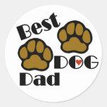 Best Dog Dad Sticker Round Sticker