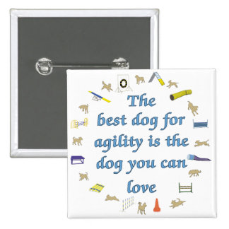Best Dog For Agility 15 Cm Square Badge