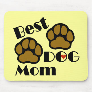 Best Dog Mom Mousepad with Dog Paws Merchandise