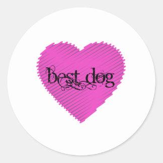 Best Dog Round Sticker