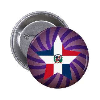 Best Dominican Republic Flag Design 6 Cm Round Badge
