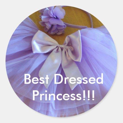 Best dressed Princess stickers