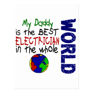Best Electrician In World 2 (Daddy) Postcard