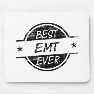 Best EMT Ever Black Mouse Pad
