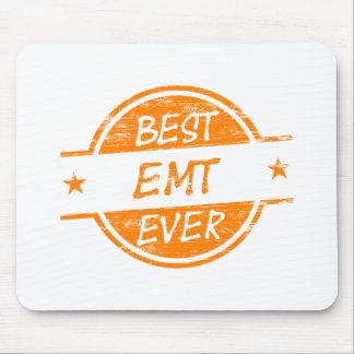 Best EMT Ever Orange Mouse Pad