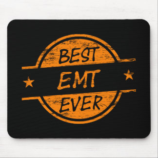 Best EMT Ever Orange Mouse Pads