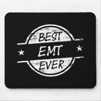 Best EMT Ever White Mouse Pads