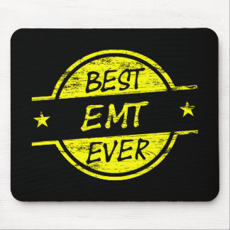 Best EMT Ever Yellow Mouse Pad