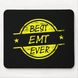 Best EMT Ever Yellow Mousepad
