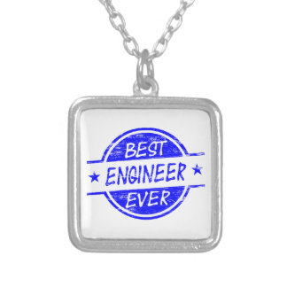 Best Engineer Ever Blue Silver Plated Necklace
