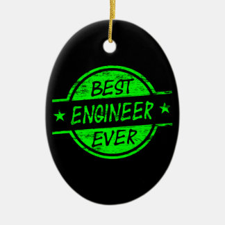 Best Engineer Ever Green Christmas Ornament