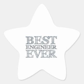 Best Engineer Ever Star Sticker