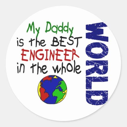Best Engineer In World 2 (Daddy) Round Sticker