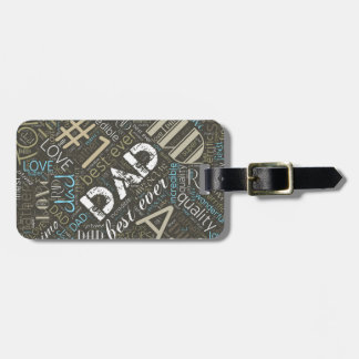 Best Ever Dad Word Cloud ID263 Luggage Tag