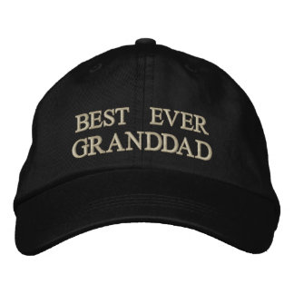 Best Ever Granddad embroidered Gift Embroidered Baseball Cap