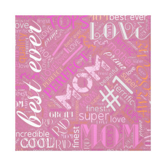 Best Ever Mom Word Cloud ID262 Canvas Print