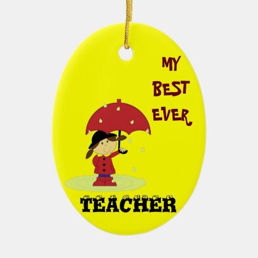Best Ever Teacher Ornaments