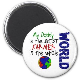 Best Farmer In World 2 (Daddy) 6 Cm Round Magnet