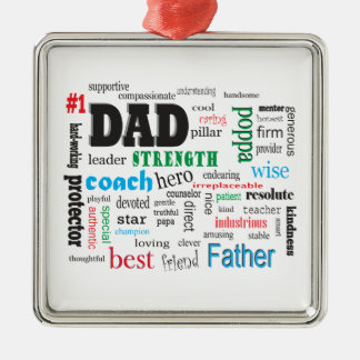 Best Father Dads Day Word Cloud Christmas Ornament