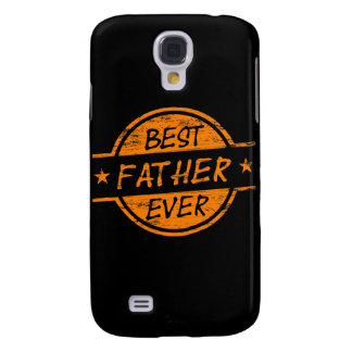 Best Father Ever Orange Galaxy S4 Case