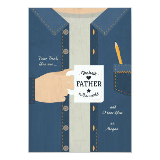 Best Father In The World 13 Cm X 18 Cm Invitation Card