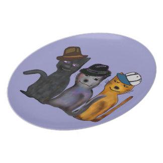 Best Feline Friends Plates