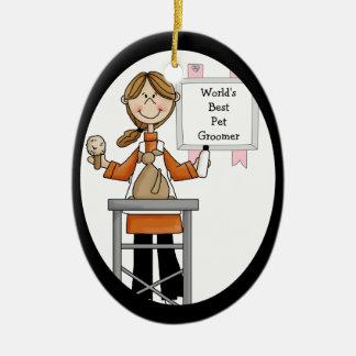 Best Female Pet Groomer Ornament