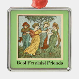 Best feminist friends christmas ornament
