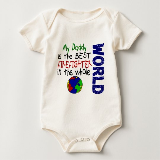 Best Firefighter In World 2 (Daddy) Baby Bodysuit