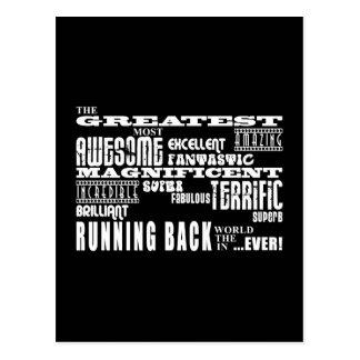 Best Football Running Backs Greatest Running Back Postcard