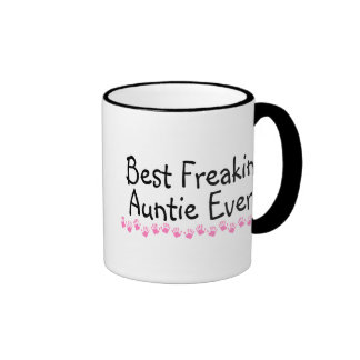 Best Freakin Auntie Ever Ringer Mug