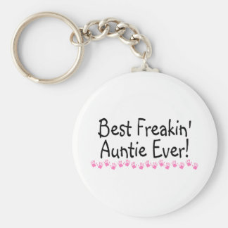 Best Freakin Auntie Every Basic Round Button Key Ring