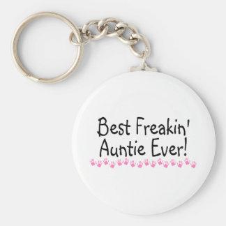 Best Freakin Auntie Every Key Ring