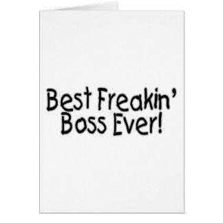 Best Freakin Boss Ever Card