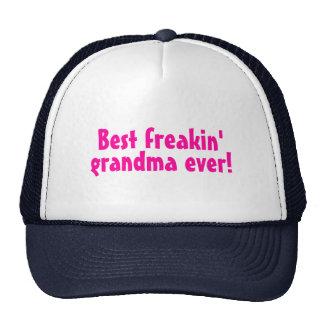 Best Freakin Grandma Ever (Pink) Cap