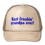 Best Freakin Grandpa Ever (Blue) Trucker Hats