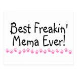 Best Freakin Mema Ever Post Card