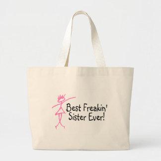 Best Freakin Sister Ever Jumbo Tote Bag
