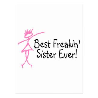 Best Freakin Sister Ever Postcard