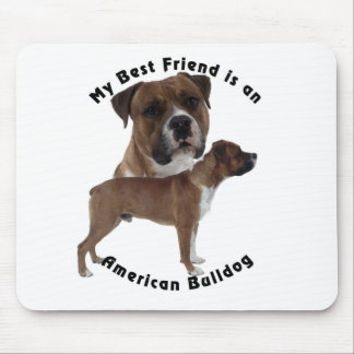 Best Friend American Bulldog Mouse Pad