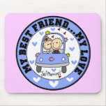 Best Friend and Love Mousepad