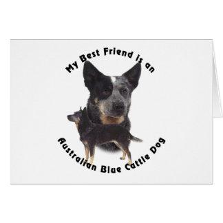 Best Friend Australian Blue cattle Dog Card