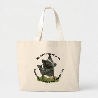 Best Friend Australian Stumpy Tail Large Tote Bag
