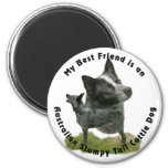 Best Friend Australian Stumpy Tail Refrigerator Magnets