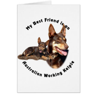 Best Friend Australian Working Kelpie RED Tan Card