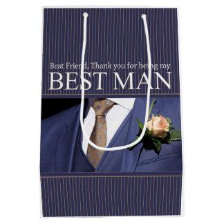 best friend best man thank you medium gift bag