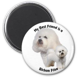Best Friend Bichon Frise 6 Cm Round Magnet