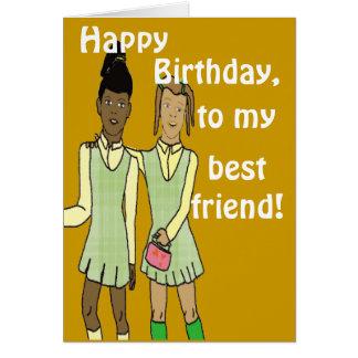 Best friend birthday Card
