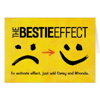 Best Friend Birthday, The Bestie Effect Card